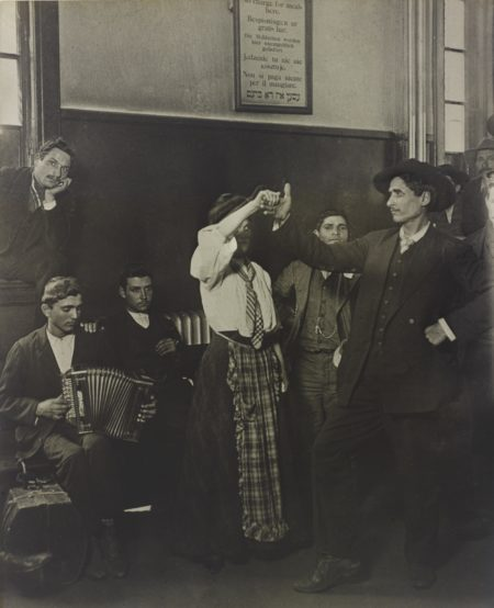 Lewis Wickes Hine-Immigrants Dancing At Ellis Island-1905