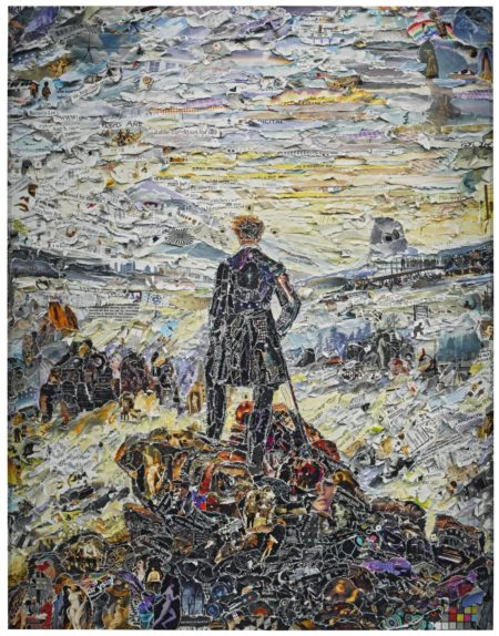Vik Muniz-Wanderer Above The Sea Of Media After Caspar David Friedrich (Pictures Of Magazines 2)-2011