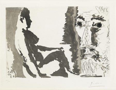 Pablo Picasso-Peintre et Modéle (B. 1213; Ba. 1195)-1965