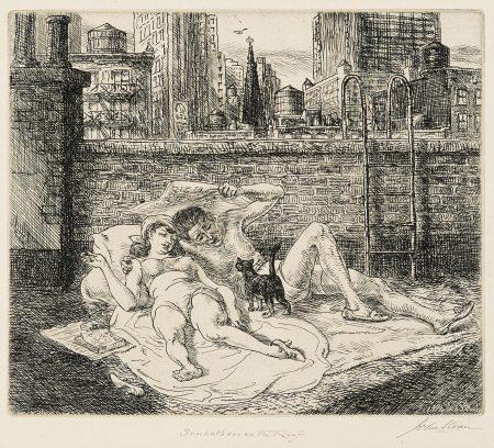 John Sloan-Sunbathers on the Roof (M. 307)-1941