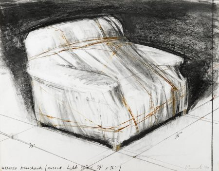 Christo and Jeanne-Claude-Wrapped Armchair, Project (S. & K. 88)-1977