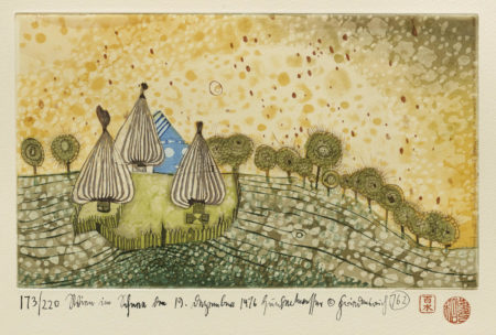 Friedensreich Hundertwasser-Hide Under the Meadow it Begins to Rain (K. 69)-1976