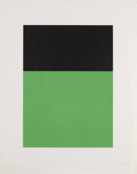 Ellsworth Kelly-Black/Green (A. 68; G. 237)-1970