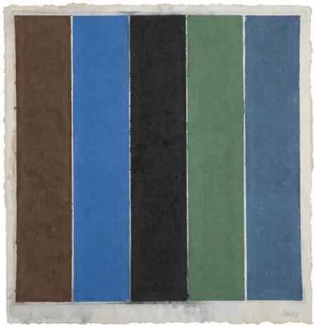 Colored Paper Image XIX (Brown/Blue/Black/Green/Violet)-1976
