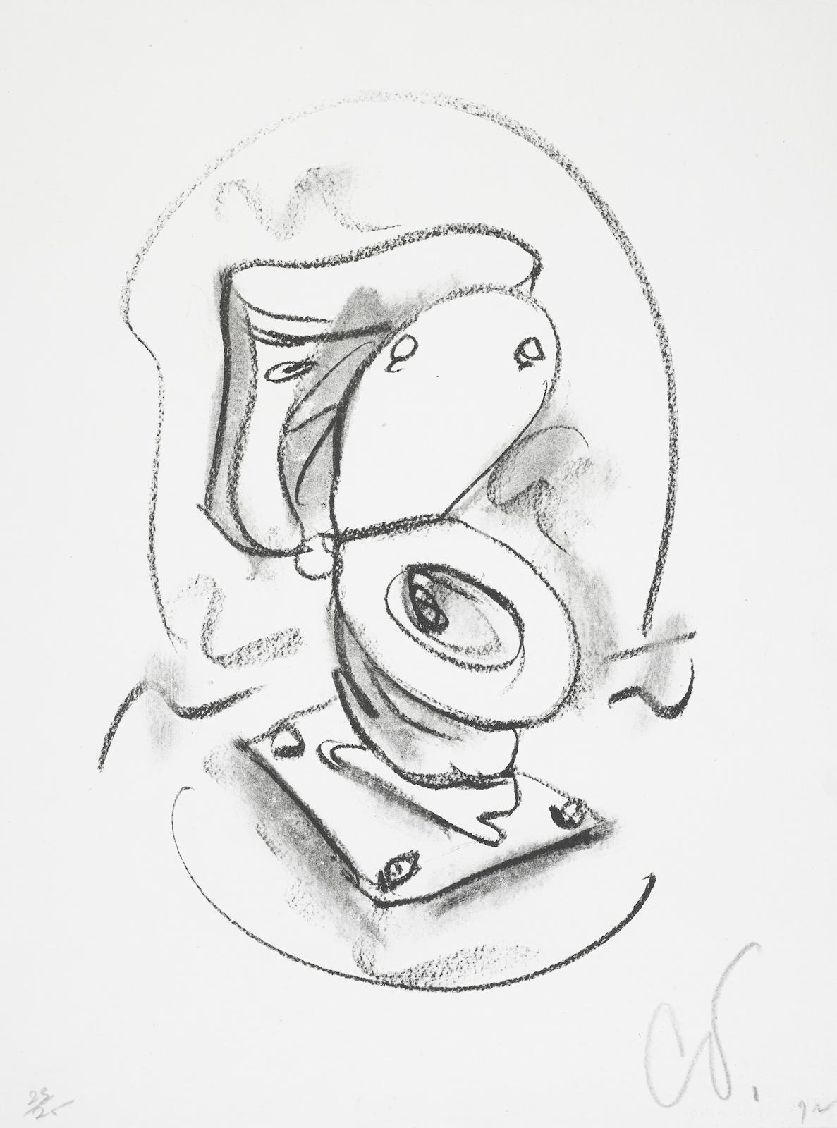 Claes Oldenburg-Soft Toilet #2 (A./P. 93; G. 414)-1972