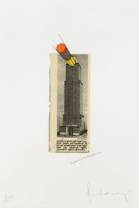 Claes Oldenburg-Equitable Building as a Pencil Sharpener (A./P. 255)-1995