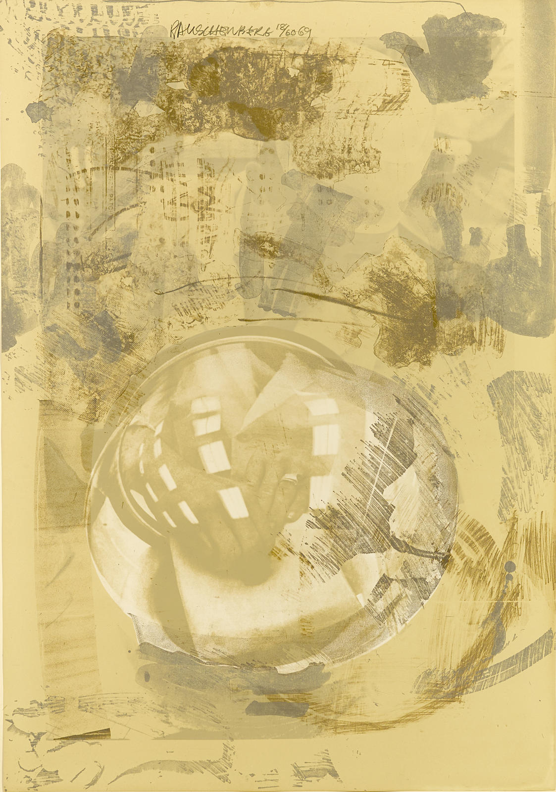 Robert Rauschenberg-Sack, from Stoned Moon Series (G. 166)-1969