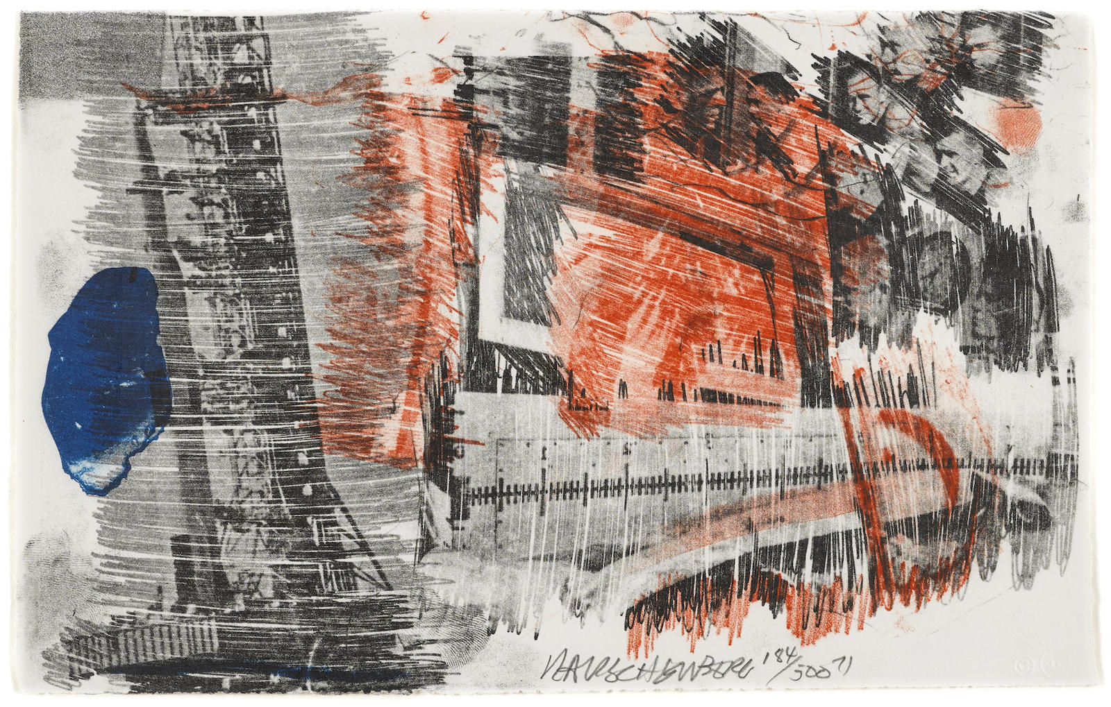 Robert Rauschenberg-Sub-Total, from Stoned Moon Series (G. 429)-1971