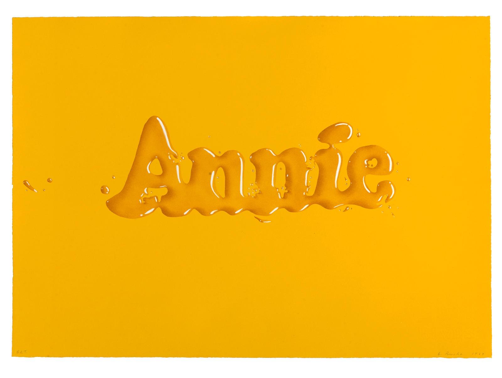 Ed Ruscha-Annie (E. 13; T. 2530)-1969