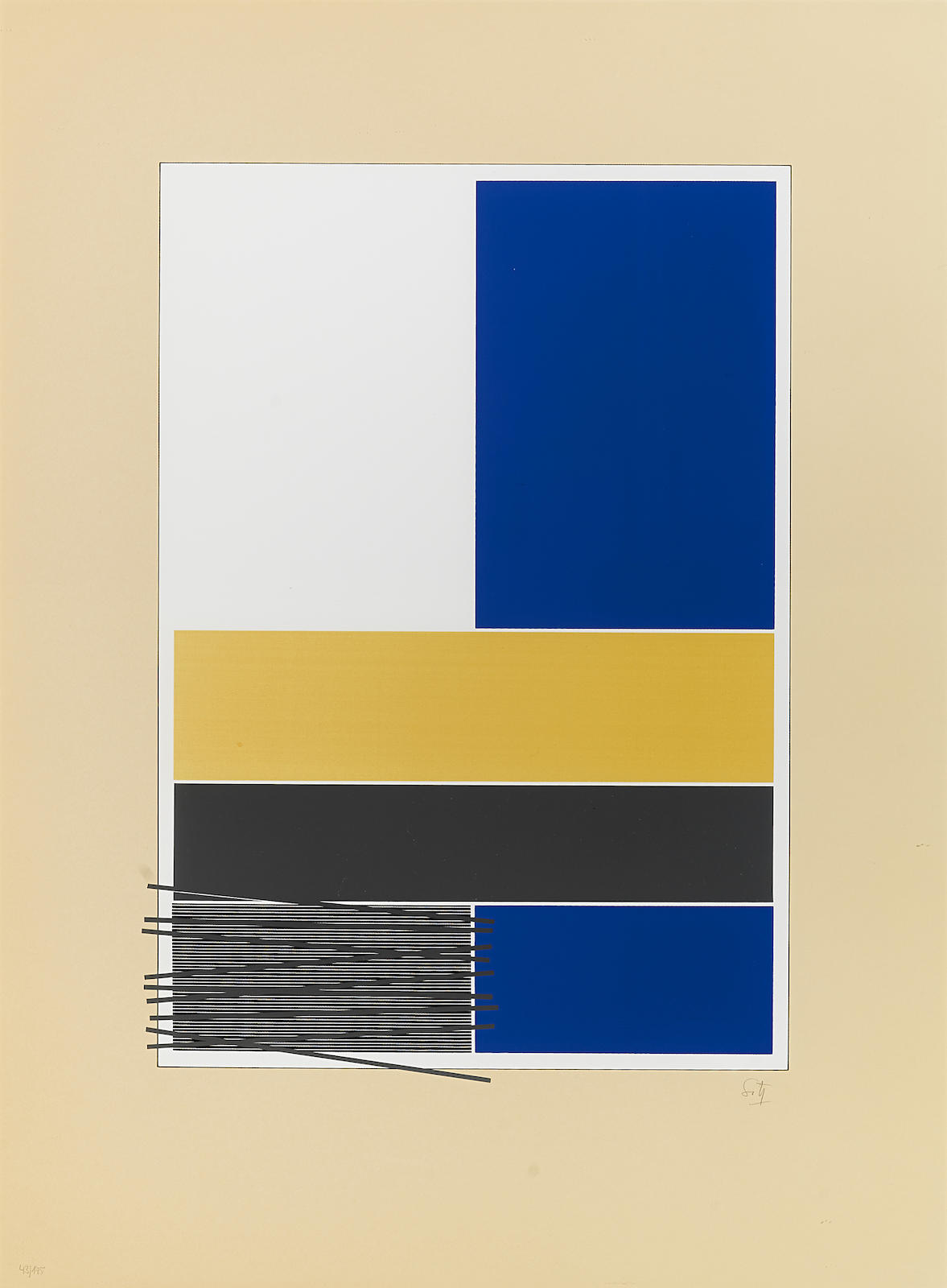 Jesus Rafael Soto-Untitled, from Caroni, 1971-1971
