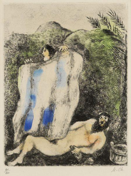 Marc Chagall-Le manteau de Noé, pl. 5, from La Bible (V. 203; C. bk. 30)-1939