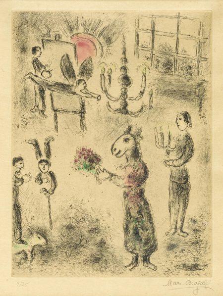 Marc Chagall-Pl. 7, from Celui qui dit les Choses sans Rien dire (C. bk. 99)-1976