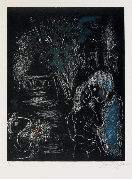 Marc Chagall-The Green Tree with Lovers (M. 959)-1980