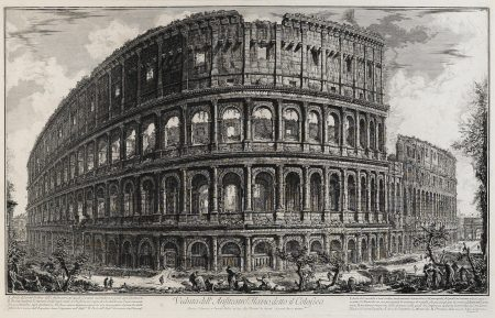 Giovanni Battista Piranesi-Veduta dell' Anfiteatro Flavo, detto il Colosseo, from Vedute di Roma (WE. 191; H. 57)-1757