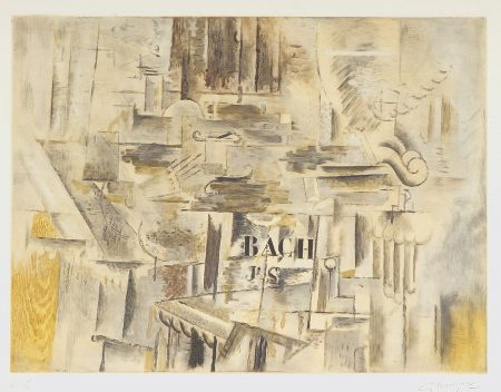 After Georges Braque - Hommage à J.S. Bach (MA. 1019)-1950
