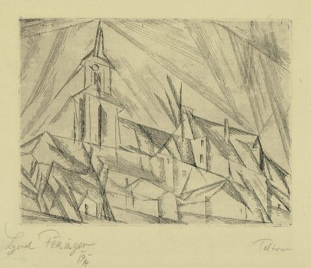 Lyonel Feininger-Teltow I (PE. 53a)-1914
