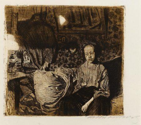 Kathe Kollwitz-Junges Paar (K. 73/IV; Kn. 83/IV)-1904
