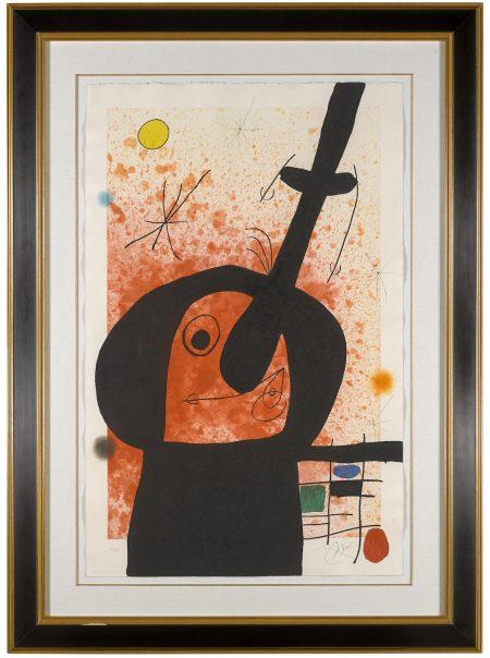 Joan Miro-Le Penseur Puissant (D. 514)-1969
