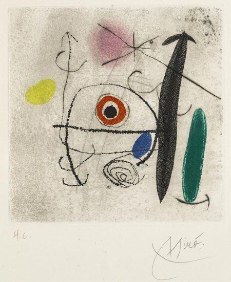 Joan Miro-Juste Derrière le Sifflet des Trains (D. 505; C. bk. 128)-1969