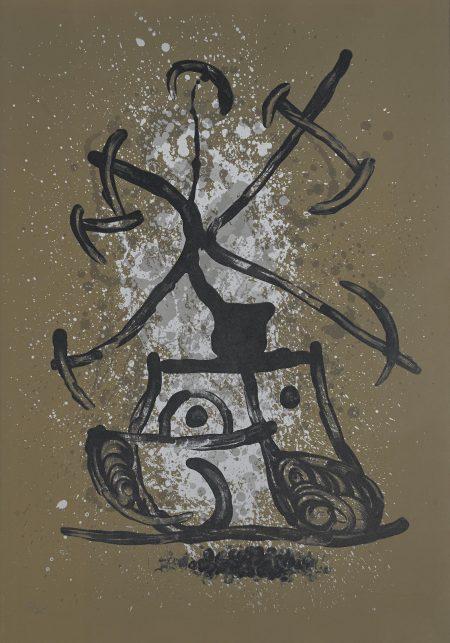 Joan Miro-L'Entraîneuse - brun (M. 614)-1969