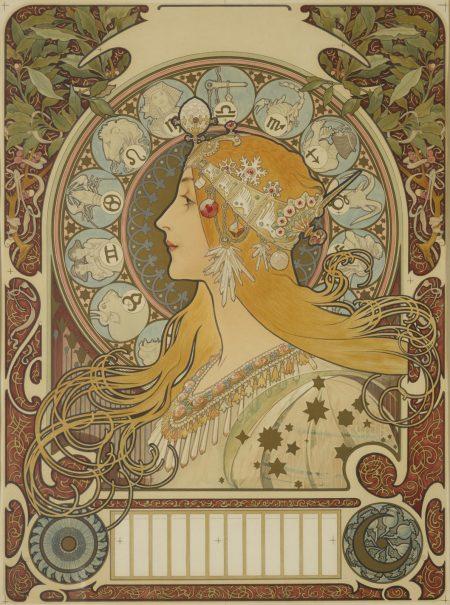 Alphonse Mucha-Zodiaque (R./W. 19)-1896