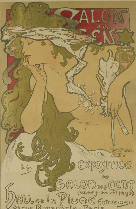 Alphonse Mucha-Salon des Cent (R./W. 12)-1897