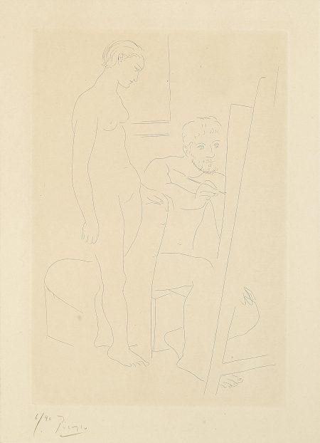 Pablo Picasso-Le Modèle nu (B. 78; Ba. 119)-1927