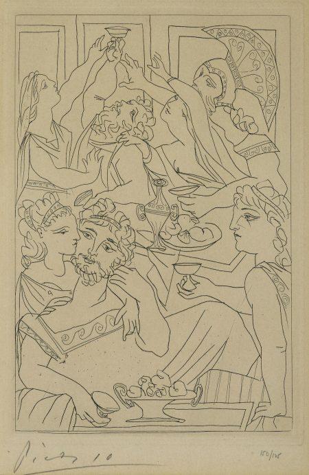Le Festin, pl. 6, from Lysistrata (B. 272; Ba. 392; C. bk. 24)-1934