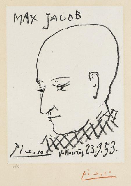 Pablo Picasso-Portrait of Max Jacob (B. 743; M. 271)-1953