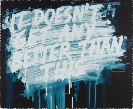 Mel Bochner-It Doesn't Get Any Better Than This-2014