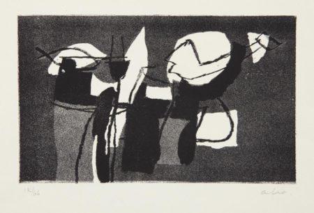 Afro Basaldella-Untitled, from Antologia del Campiello-1970