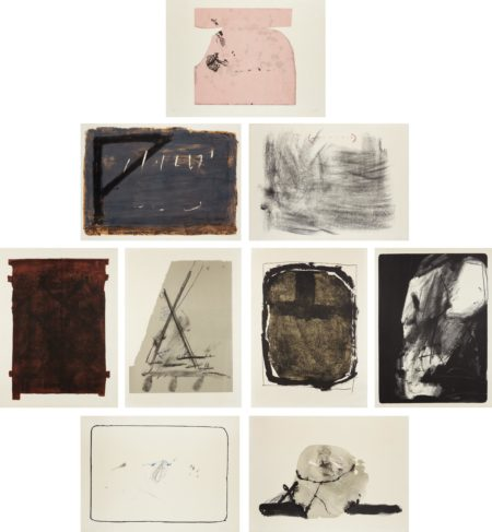 Antoni Tapies-Album St. Gallen: Nine Plates-1965