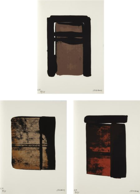 Pierre Soulages-Sur le mur d'en face (On the Opposite Wall)-1979