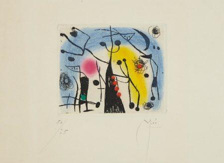 Joan Miro-Les magdaleniens (The Magdalenians)-1958