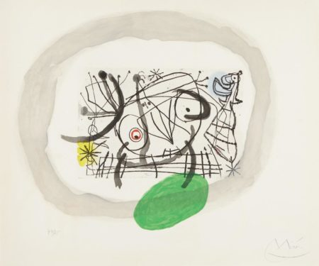 Joan Miro-Fissures: One Plate-1969