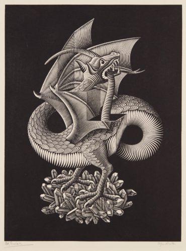 Maurits Cornelis Escher-Dragon-1952
