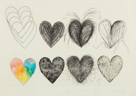 Jim Dine-Eight Hearts-1969