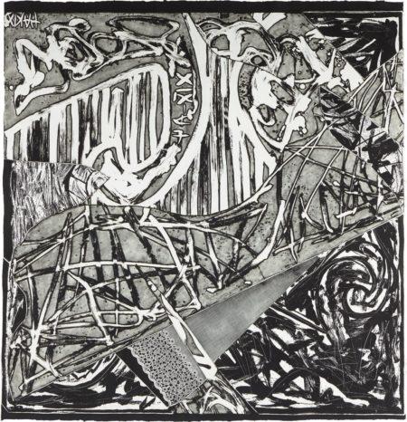Frank Stella-Swan Engraving Square II, from Swan Engravings-1982