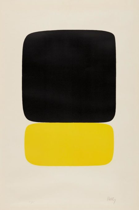 Ellsworth Kelly-Black over Light Yellow-1965