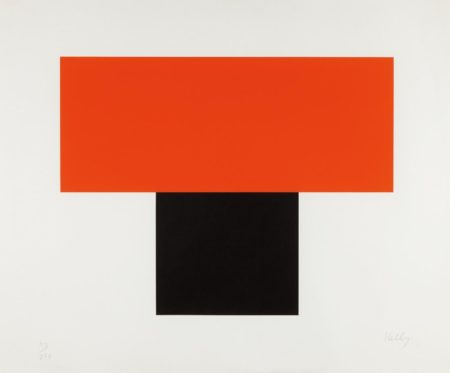Ellsworth Kelly-Red-Orange over Black-1970