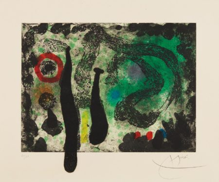 Joan Miro-Le Jardin de mousse (The Moss Garden)-1968