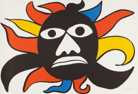 Alexander Calder-Black Face/Sun-1969