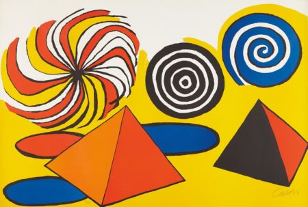 Alexander Calder-Untitled (Pinwheels and Pyramids)-1970