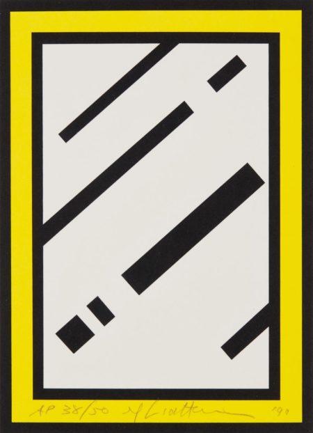 Roy Lichtenstein-Mirror, from Harvey Gantt-1990