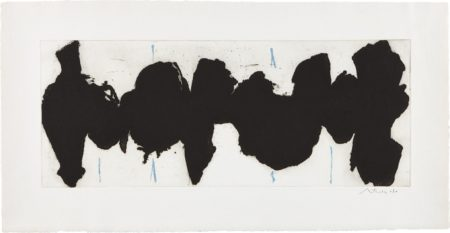 Robert Motherwell-Running Elegy II, Blue State-1983