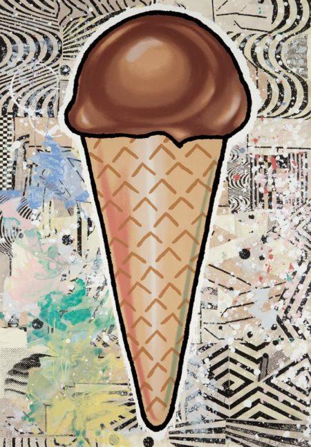 Donald Baechler-Chocolate Cone-2007