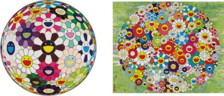 Takashi Murakami-Open Your Hands Wide; and Flowerball Brown-2010