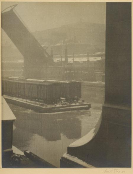Karl Struss-Chicago River-Winter-1912