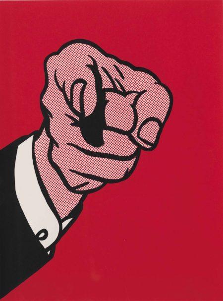 Roy Lichtenstein-Finger Pointing, from: The New York Collection for Stockholm portfolio (Corlett 126)-1973