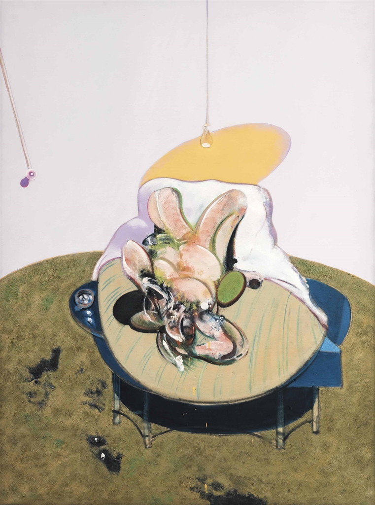 Francis Bacon-After Francis Bacon - Lying figure (Heni Productions Catalogue Number Q2B)-1966